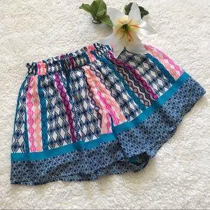 Lush Shorts Neon Blue Pink Elastic Waistband